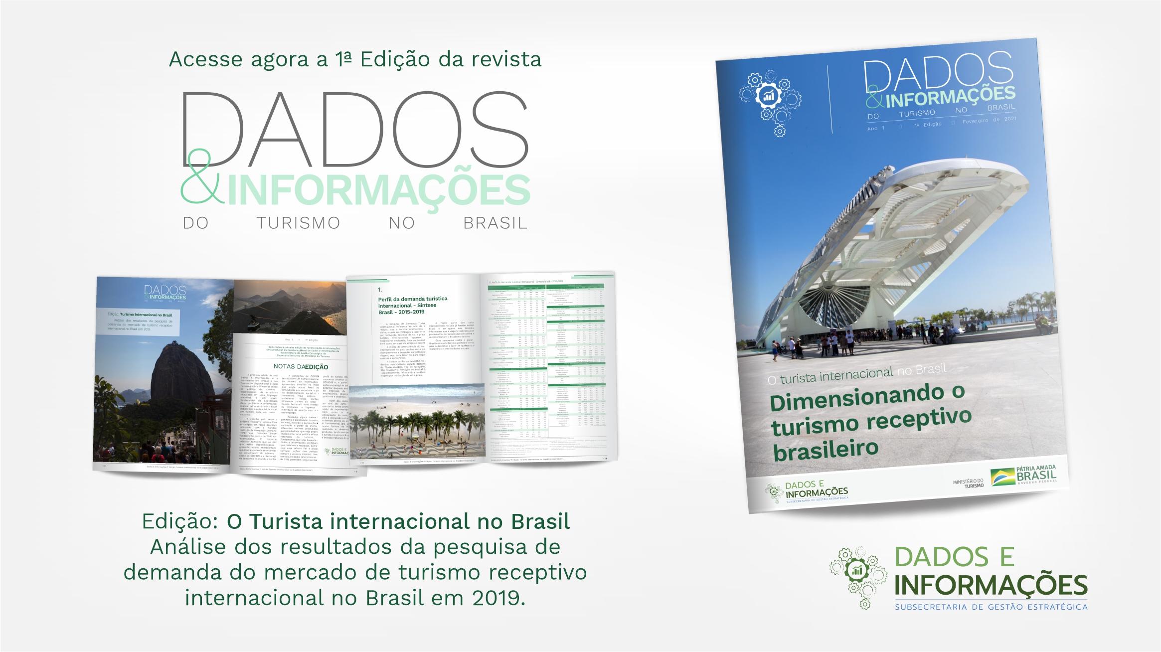 Primeira edição da revista Dados & Informações do turismo no Brasil