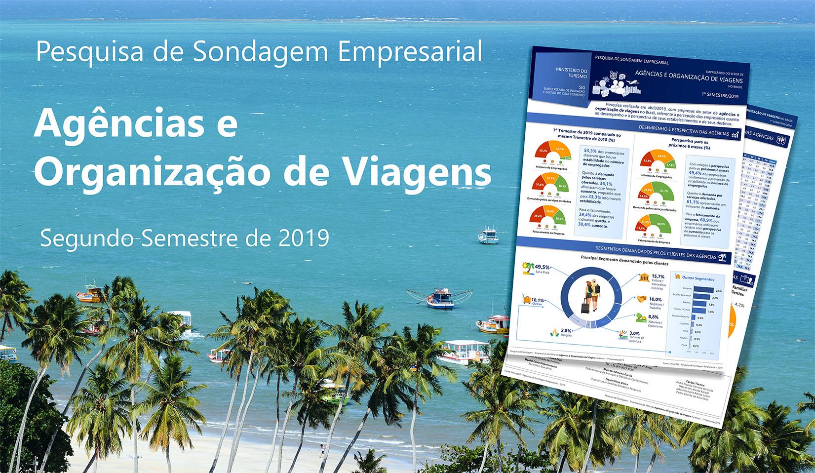 Confira os Boletins da Pesquisa de Sondagem Empresarial - Agências e Organização de Viagens - 2º Semestre/2019