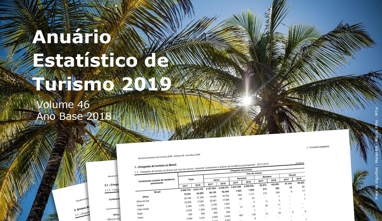 Publicado o Anuário Estatístico de Turismo 2019